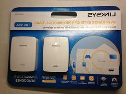 2 PACK - Linksys Wi-Fi Range Extender Pro N600 Dual Band RE4