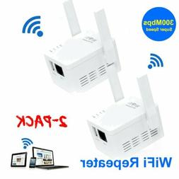 2PC WiFi Range Extender Wireless 300Mbps AP/Repeater Dual An