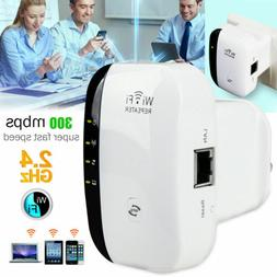 300Mbps WiFi Extender Wireless-N AP Range 802.11Network Repe