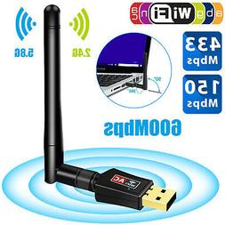 1200Mbps Dual Band 2.4GHz 5GHz Wireless USB 3.0 WiFi Adapter