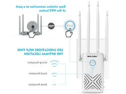 AC1200 Dual Band Wi-Fi Gigabit Repeater for Range Extender,S