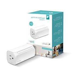 Kasa Smart Wi-Fi Plug, 2-Outlets by TP-Link, Double the Outl