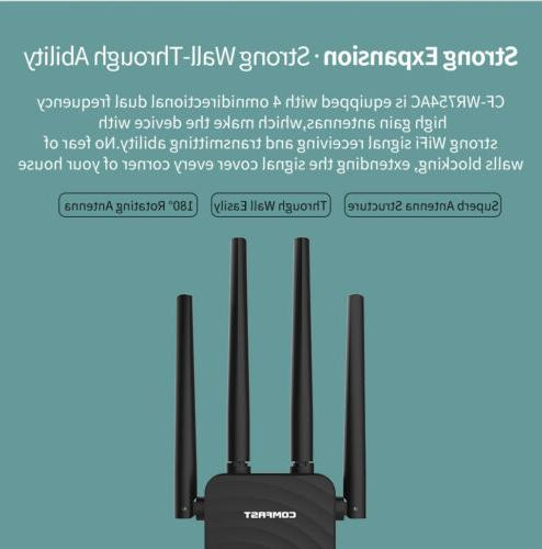 1200Mbps Band 2.4/5GHz SKY Wireless Repeater WiFi Range Extender Booster