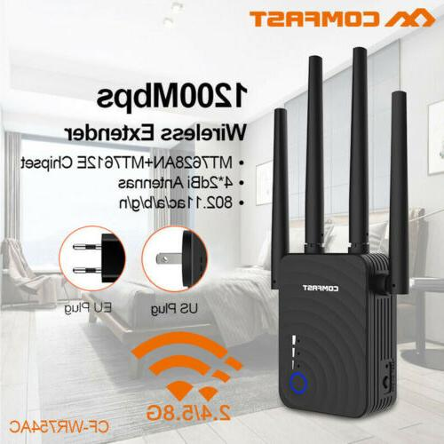 1200mbps dual band wireless range extender wifi