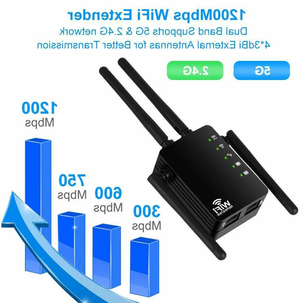 1200Mbps WiFi Repeater, Aigital Upgraded Internet