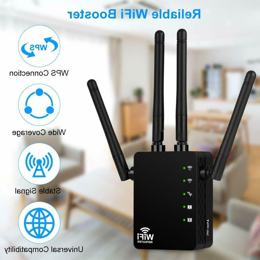 1200Mbps WiFi Extender Repeater, Aigital Wireless Internet