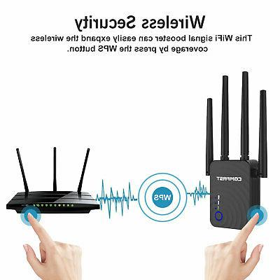 1200Mbps WiFi Extender Range Booster Wireless Dual Band