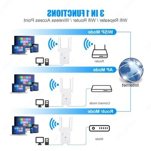 1200Mbps WiFi Range Repeater Signal Booster