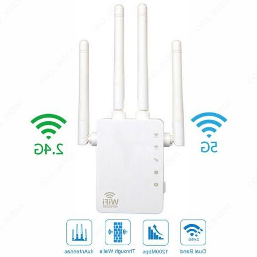 1200Mbps WiFi Range Repeater Booster