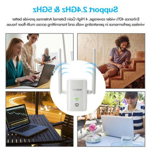 1200Mbps WiFi Range Repeater Wireless Amplifier Signal A