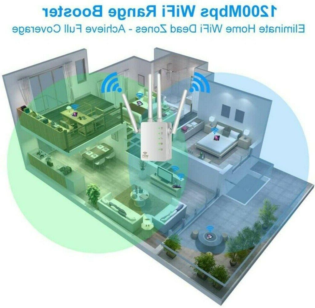 1200Mbps Extender WiFi Signal Booster Dual