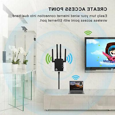 1200Mbps WiFi Extender Dual Band Booster Range Signal
