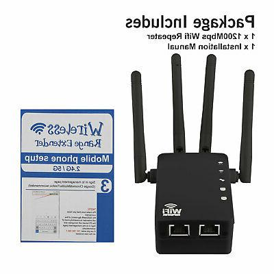 1200Mbps WiFi Repeater Extender Dual Band Range Signal