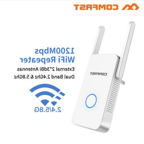 2 4g 5ghz 1200mbps wifi repeater wireless