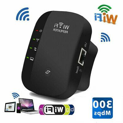 300Mbps Repeater Wireless Router Signal Booster US