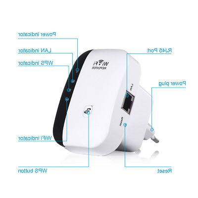 300Mbps Wifi Repeater Wireless-N 802.11 AP Router Signal Booster Range