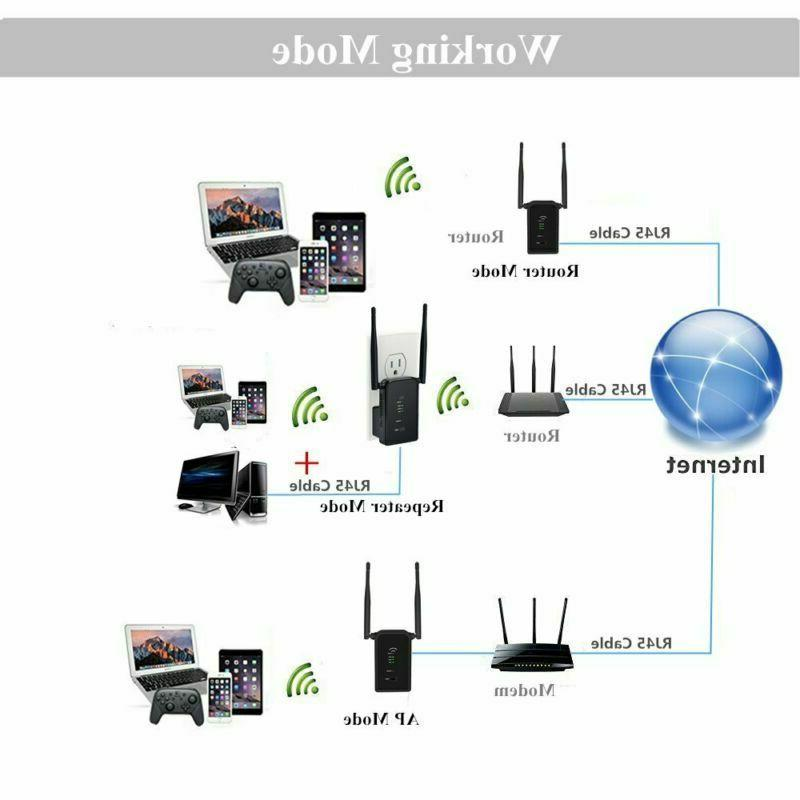 300Mbps Range Extender Aigital Wireless Button WiFi Sign