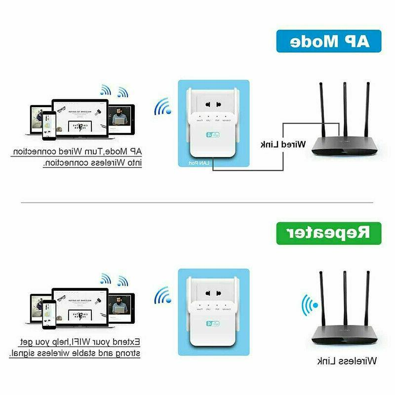300Mbps Signal Booster Amplifier Internet Wireless Repeater