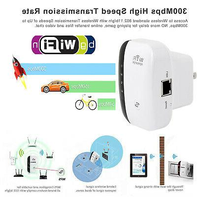 300Mbps Wifi Repeater Wireless-N 802.11 Signal Range