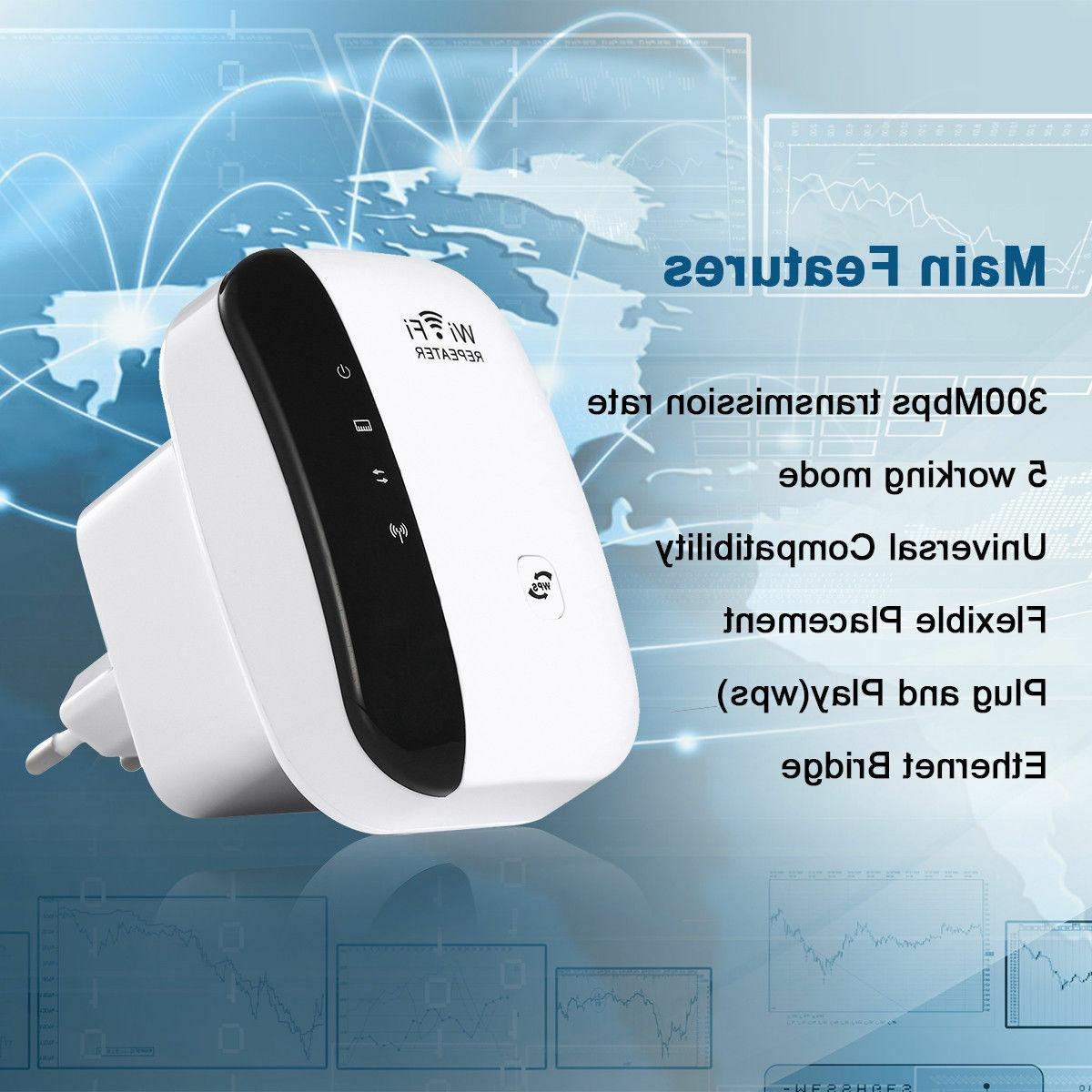 300Mbps Wireless-N Range 802.11 Wifi Signal Extender Booster US Ship