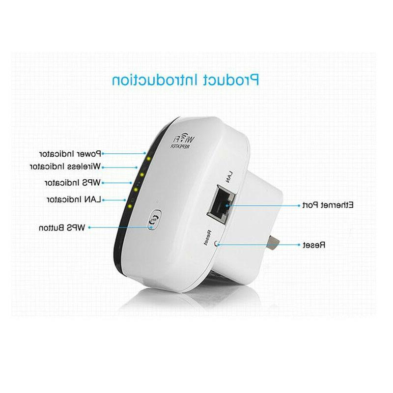 300Mbps Wireless-N 802.11 Wifi Extender Booster US