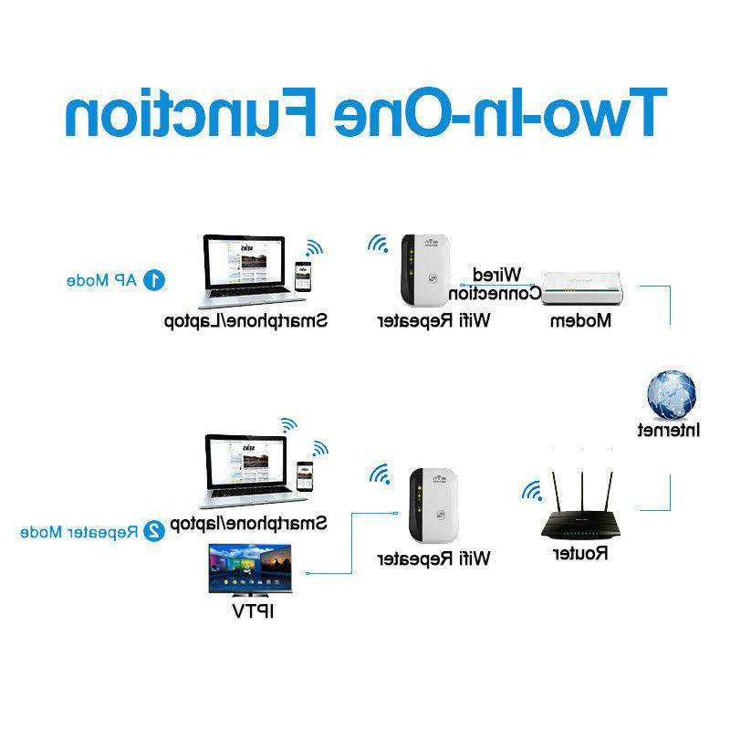 300Mbps Wireless-N Range 802.11 Network Signal Extender Booster