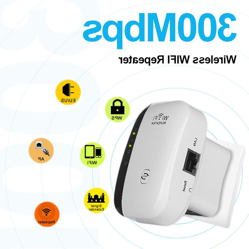300Mbps AP Range 802.11 Wifi Signal Extender Booster US Ship