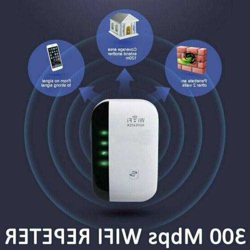 300Mbps Wireless WiFi Repeater Signal Booster Range