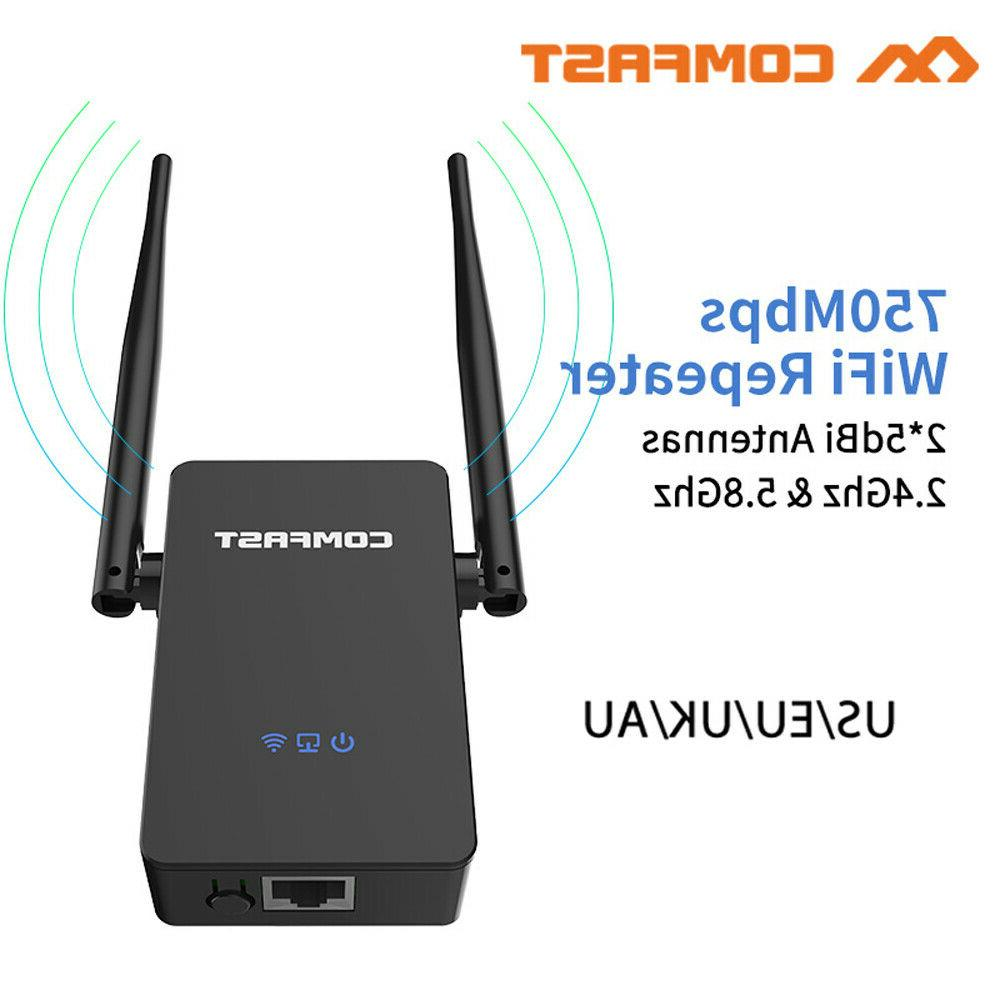 750mbps wifi repeater range booster signal extender