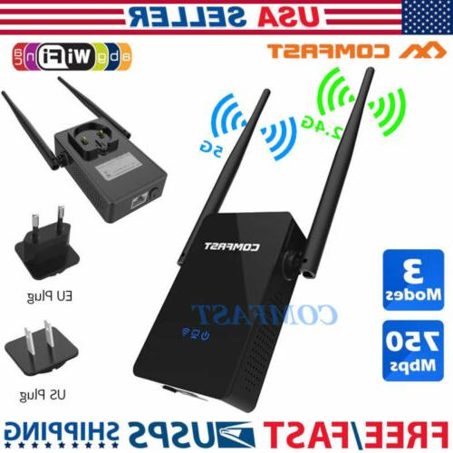 750mbps wireless repeater 2 4g 5ghz dual