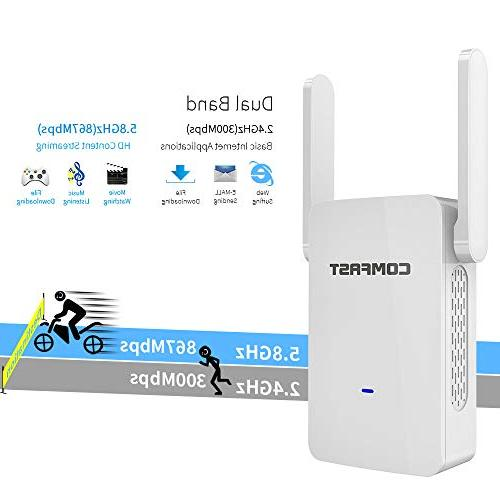COMFAST AC1200 WiFi Extender - Dual Repeater/Access Alexa Devices
