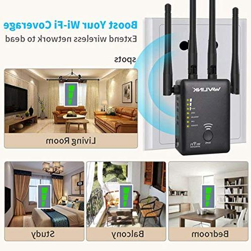 WAVLINK D4 - AC1200 Band 2.4Ghz 1200Mbps Wireless Point/Repeater Signal 3