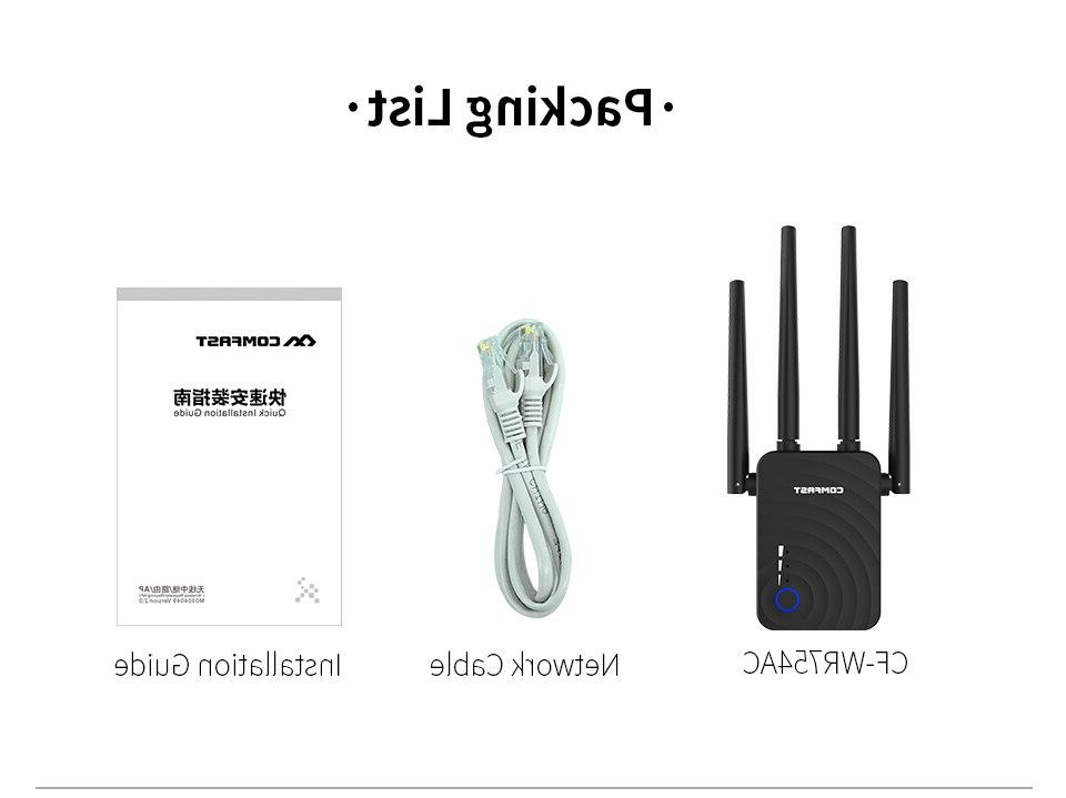 COMFAST <font><b>1200Mbps</b></font> Wireless <font><b>WiFi</b></font> <font><b>Extender</b></font> 2.4/5Ghz Dual Repeater Signal Booster with Antennas