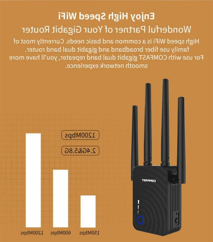 COMFAST Dual Band WiFi Repeater Extender Network