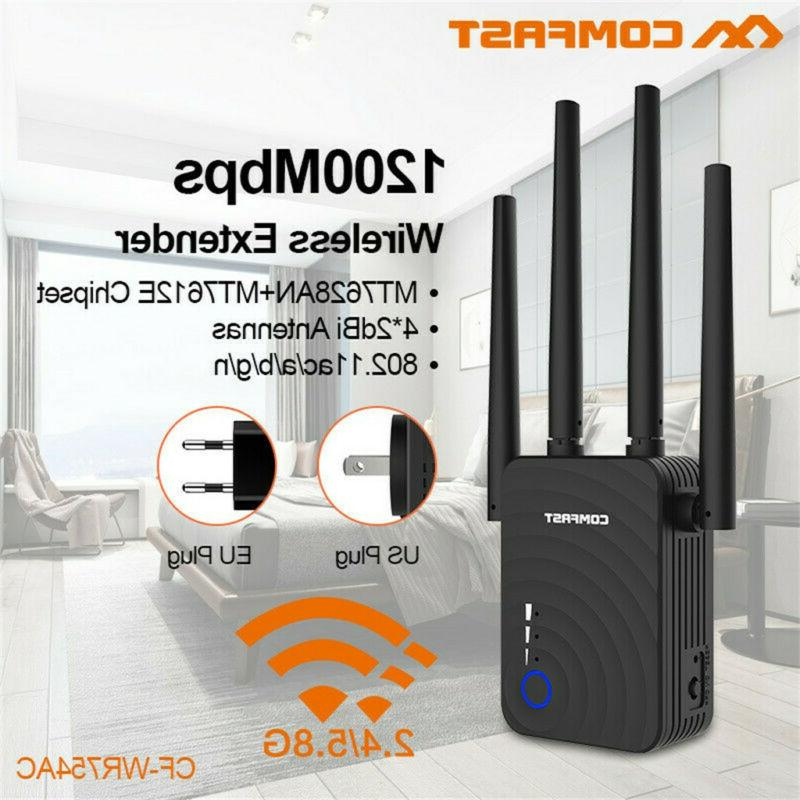 comfast dual band 1200mbps wifi repeater wireless