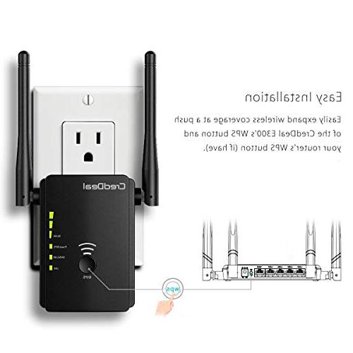 CredDeal WiFi Extender, Wireless Point with Ethernet Compatible Alexa, Wi-Fi to Smart Home & Device, Design