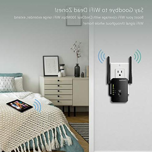 CredDeal WiFi Extender, Booster, Wireless Point Ethernet Antennas and Compatible Wi-Fi & Alexa Device, Design