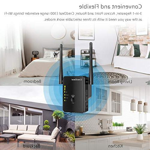Extender, Ethernet Antennas Ports, Compatible with Wi-Fi Smart & Alexa Device, Compact Design