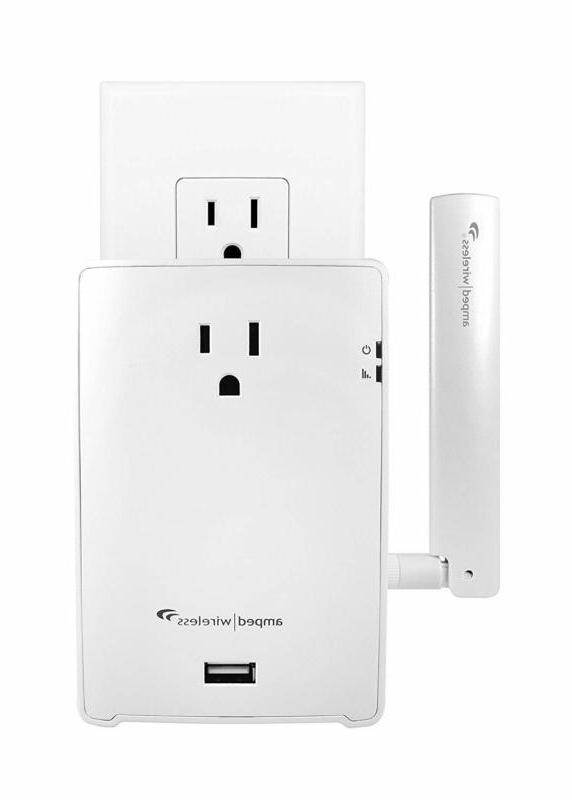 Amped Wireless High Power Plug-In Extender With Out