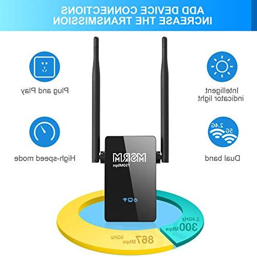 DECR WiFi Range US750 Coverage Easy Installation Dual Antennas