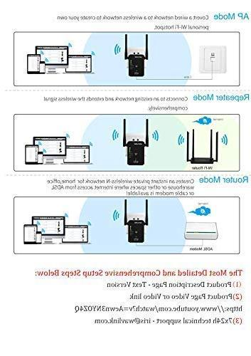 WAVLINK ARIEAL N300 Extender Repeater 300Mbps Router/AP Access 3 in 1