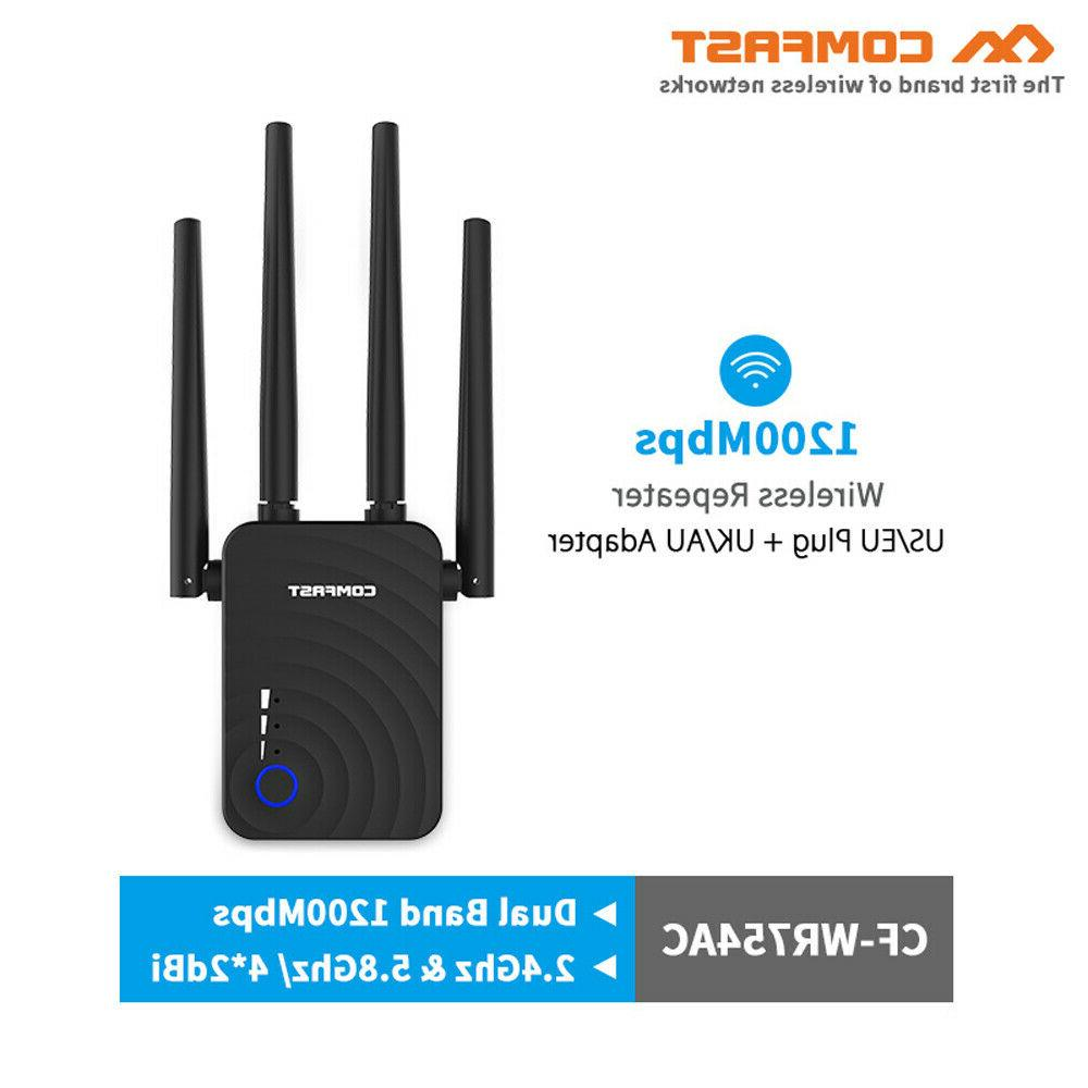 COMFAST 1200Mbps Mini WiFi Repeater 2.4GHz/5.8GHz Dual