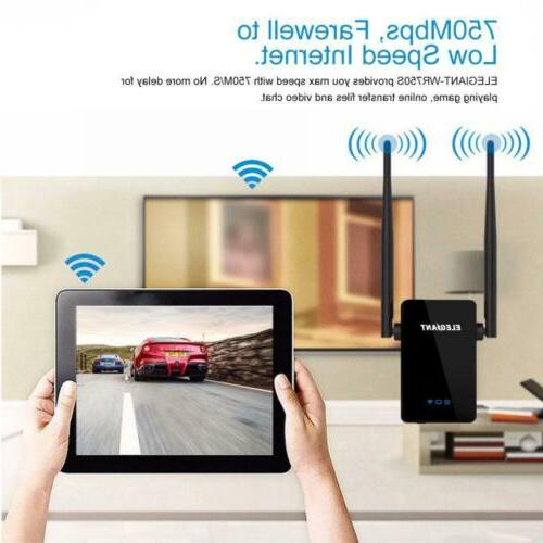 WiFi Range Extender, ELEGIANT 750Mbps Wireless Repeater Signal...