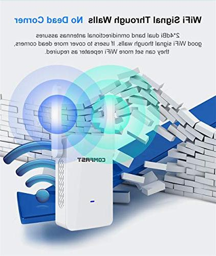 GALAWAY Range Extender, Internet Booster Wireless Repeater 5GHz Dual Band to Mbps Full Coverage