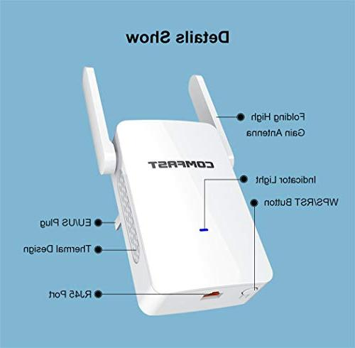 GALAWAY WiFi Extender, Internet Repeater 5GHz Band 1200 Mbps Degree Coverage