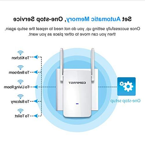 GALAWAY WiFi Internet Signal Repeater 2.4GHz 5GHz Mbps 360 Full Coverage