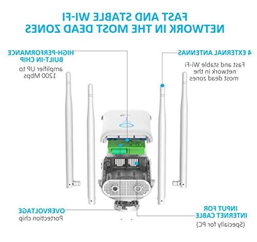 Persevere Range 1200Mbps Signal Extenders Wi-Fi with 4 WiFi External and 5GHz
