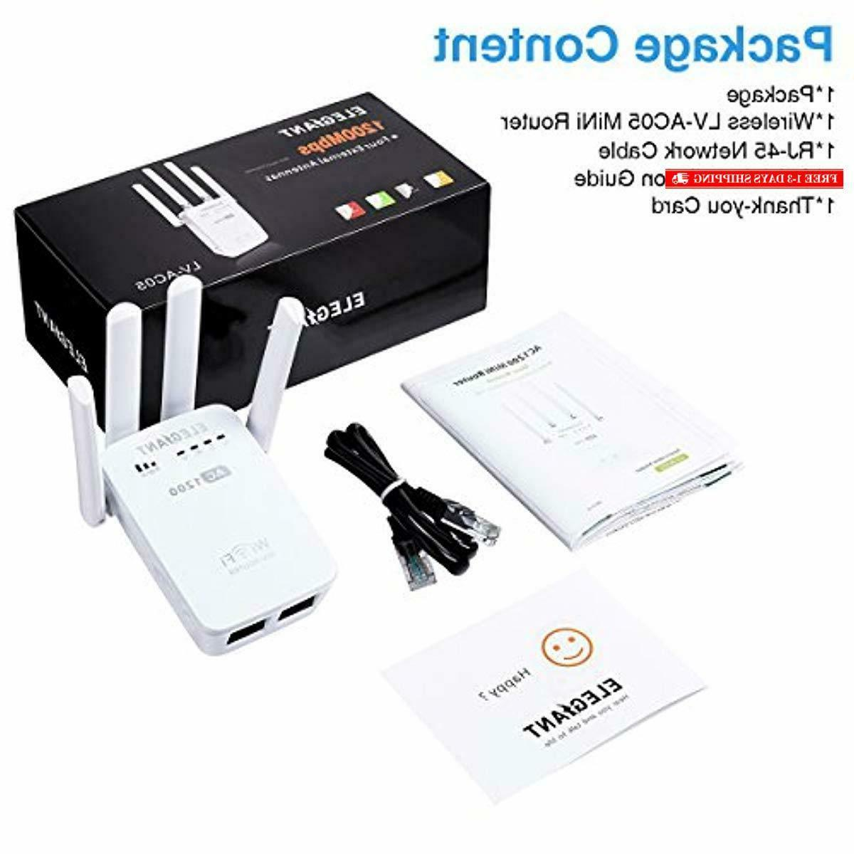 WiFi AC1200Mbps Repeater Signal Amplifier