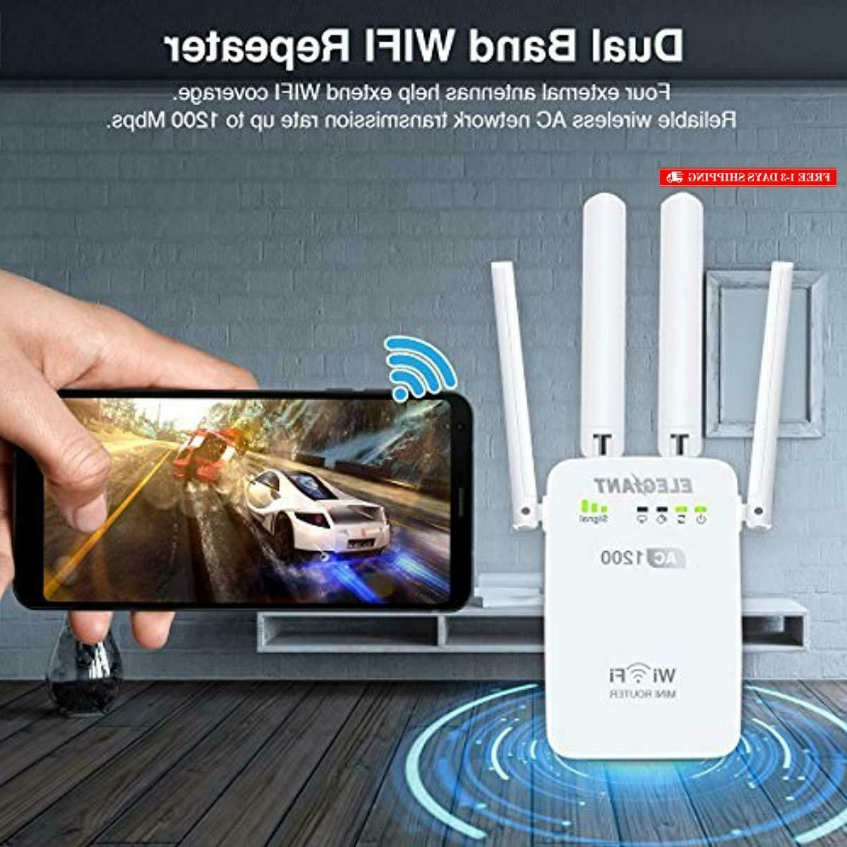 WiFi AC1200Mbps Wireless WiFi Repeater Signal