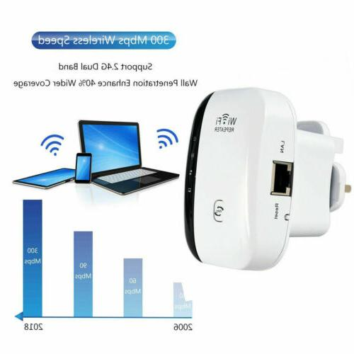 Wifi Extender Booster 300Mbps Repeater Amplifier